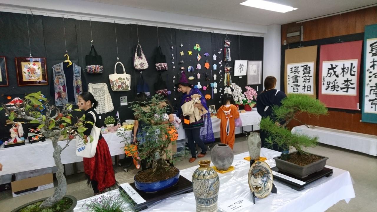 自治会の友田の文化祭を見学しました
