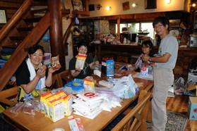 2013/07/27 キャンプ本部食材分け作業