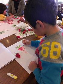 14/03/22  街ゼミ KT絵の会「いちごを描いて食べちゃおう!」
