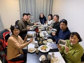 18/12/23  山歩会本沢温泉小屋山行打ち上げ
